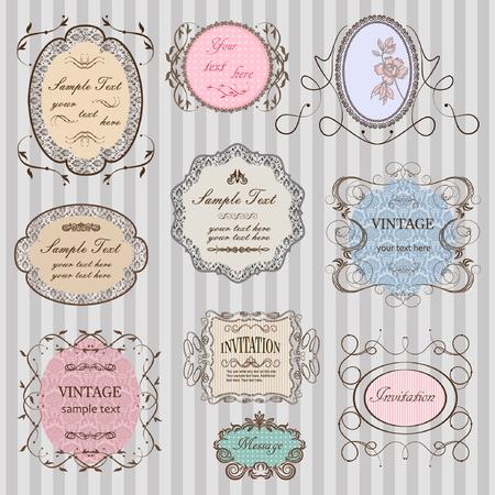 antique frames: Set of elegant vintage frames