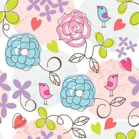 romantic: romantic floral seamless background