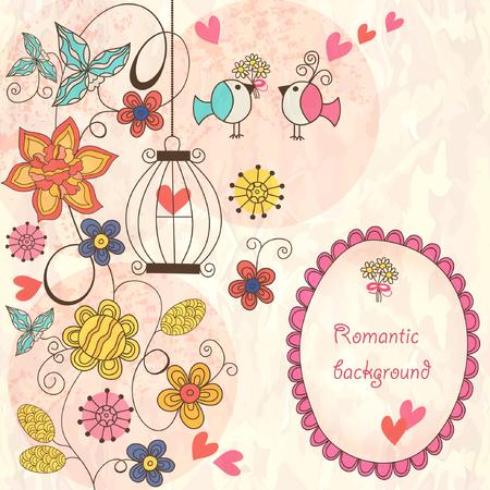 romantic: Romantic floral background Illustration