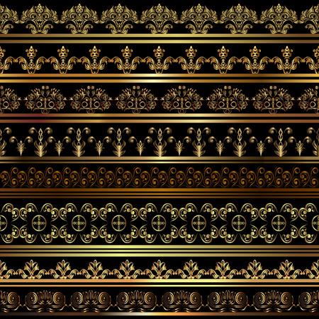 abstract swirls: Set of vintage borders.