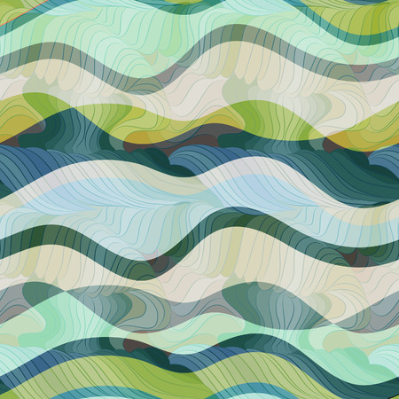 sea waves: seamless vector waves texture
