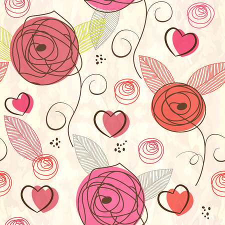 abstract art background: Seamless valentine pattern