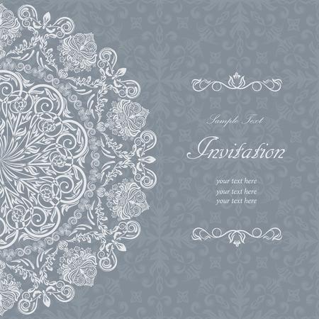 Elegant vintage frame with floral lace pattern