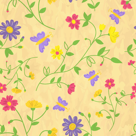 abstract flowers: colorful abstract pattern with flowers