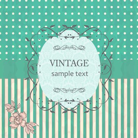 vintage retro frame: vintage frame on retro background