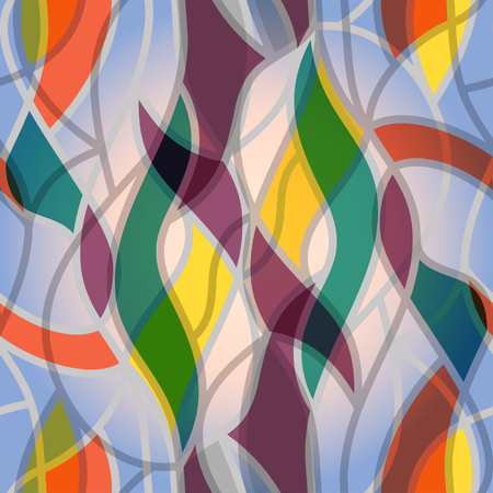 Colorful wavy abstract seamless pattern.