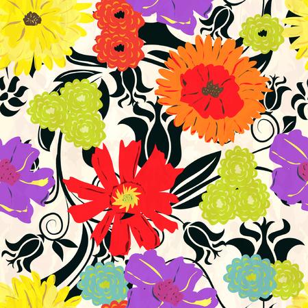 Floral pattern sans soudure Vecteurs