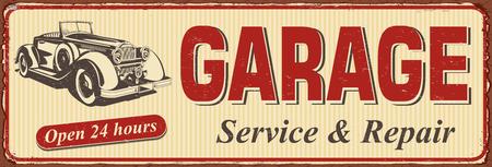 Vintage Garage metal sign.