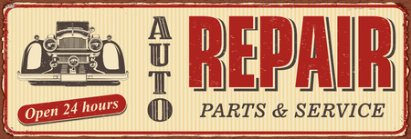 Vintage Auto Repair metal sign.