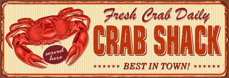 Letrero de metal Vintage Crab Shack.
