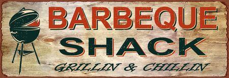 Vintage BBQ poster 向量圖像