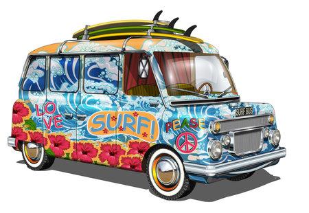 Retro surf bus.