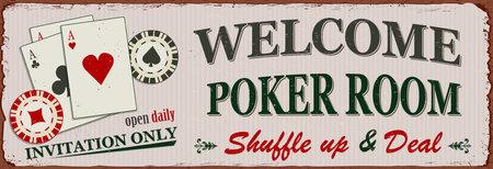 Vintage Poker metal sign.