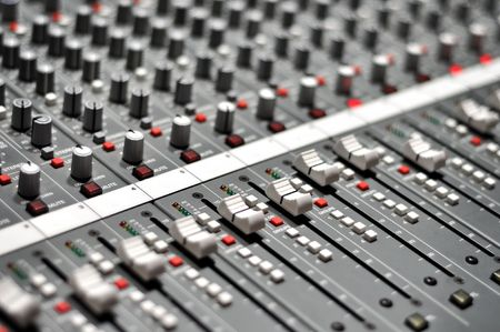 mixer console: Audio pult Stock Photo