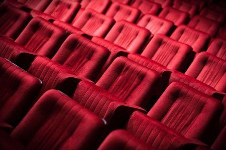 Empty theatre theater auditorium cinema or conference hall photo