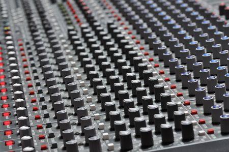mixing board: Pro mixing pult at a recording studio