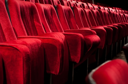 Empty theater auditorium cinema or conference hall Stock Photo