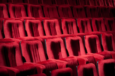 Empty theater auditorium cinema or conference hall photo