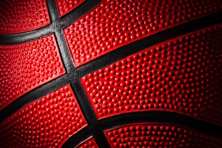 college basketball: close up shot of basketball - background
