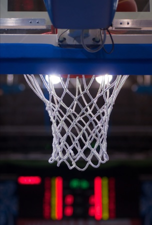 View of a detail of a modern basketball arena Stock Photo