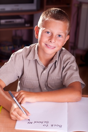 Back to school. Portrait of young boy Stock Photo - 10359156
