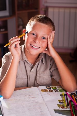 Back to school. Portrait of young boy Stock Photo