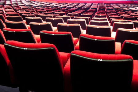 theater seat: Empty theater auditorium cinema or conference hall Editorial
