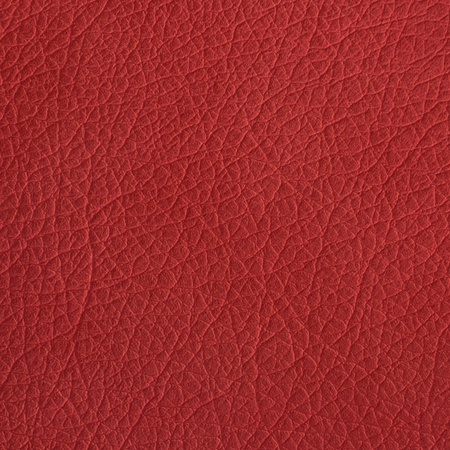 red leather texture: Red leather texture closeup, useful as background Stock Photo