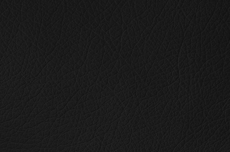 Black leather texture closeup, useful as background Stock Photo