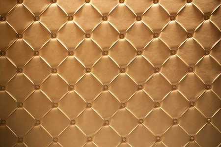 Golden leather texture closeup, useful as background photo