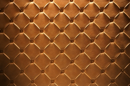Golden leather texture closeup, useful as background Stock Photo - 11810811