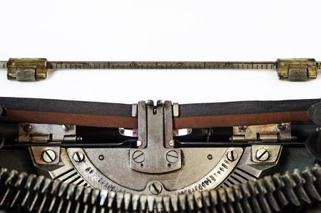 the typewriter: Cerca de la vieja m�quina de escribir manual de la vendimia