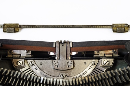 Close up of old vintage manual typewriter