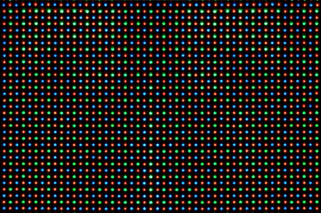 RGB led diode display panel with red and blue diodes turned on.