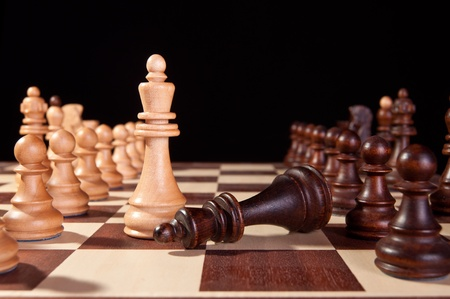 Schachmatt: Schachmatt wei� Niederlagen schwarze K�nig selektiven Fokus