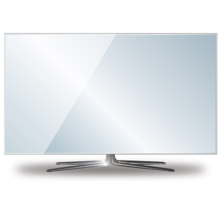 flat, grey tv screen Stock Vector - 20025380