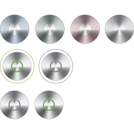 log off: steel buttons Illustration