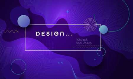 Abstract minimal gradient shapes and geometric pattern composition. Colorful gradient background. Vector abstract modern graphic design for template, poster, wallpaper, flyer, banner