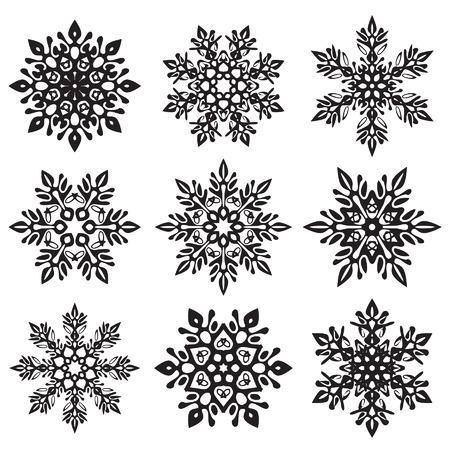 ijskristal vector set