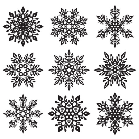 ice crystal vector set