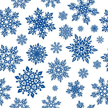 De naadloze achtergrond van sneeuwvlokken Stock Illustratie