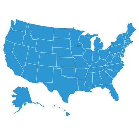 Verenigde Staten van Amerika kaart illustratie Stock Illustratie