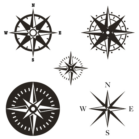 wind rose vector set