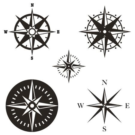 Windrose Vektor-Set Standard-Bild - 39021543