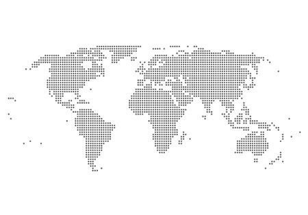 carte du monde: illustration de la carte mondiale Illustration