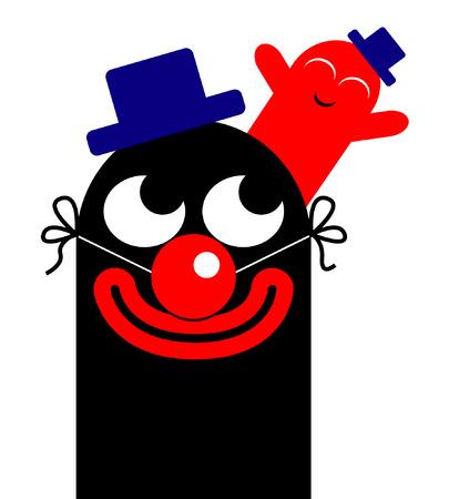 happyness: funny clowns illustration