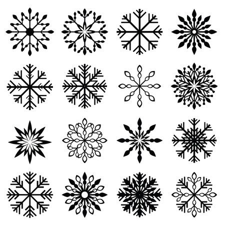 sneeuwvlok vector set Stock Illustratie