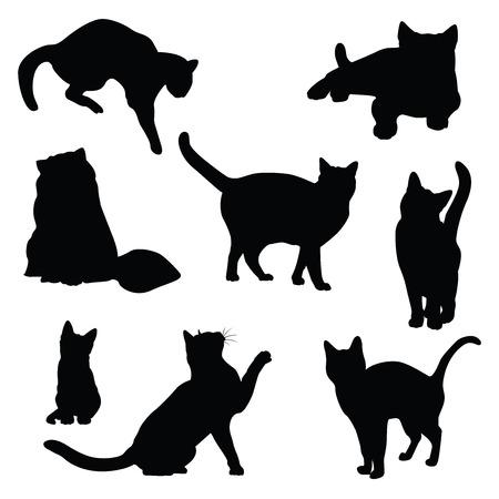 silhouette gatto: cat silhouette vettore set