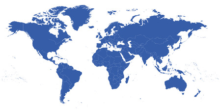 highly: highly detailed political world map