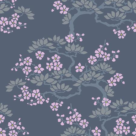 seamless japanese plum blossom wallpaper